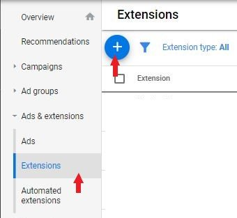 location extentions adwords