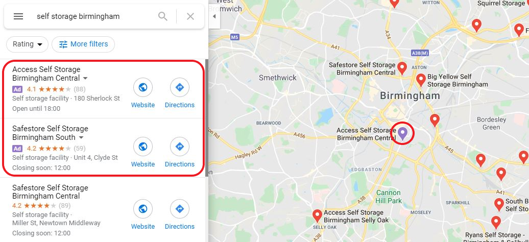 Using Local Search Ads for Storage Companies – Everything You Need to Know