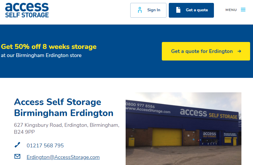 Access Birmingham Landing Page